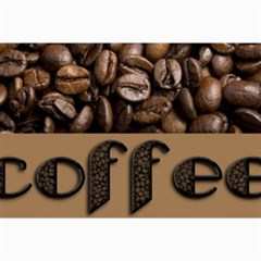 Funny Coffee Beans Brown Typography Collage Prints