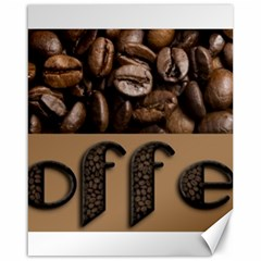 Funny Coffee Beans Brown Typography Canvas 16  x 20