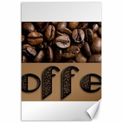 Funny Coffee Beans Brown Typography Canvas 20  x 30