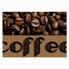 Funny Coffee Beans Brown Typography Large Glasses Cloth (2-Side)
