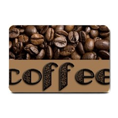 Funny Coffee Beans Brown Typography Small Doormat