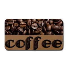 Funny Coffee Beans Brown Typography Medium Bar Mats
