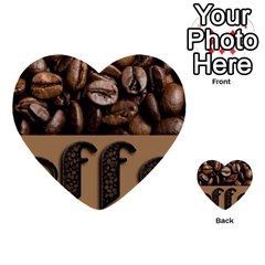 Funny Coffee Beans Brown Typography Multi Purpose Cards (heart)