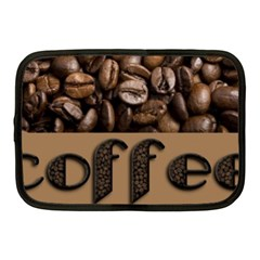 Funny Coffee Beans Brown Typography Netbook Case (Medium)