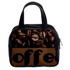 Funny Coffee Beans Brown Typography Classic Handbags (2 Sides)