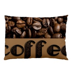 Funny Coffee Beans Brown Typography Pillow Case