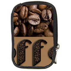 Funny Coffee Beans Brown Typography Compact Camera Cases