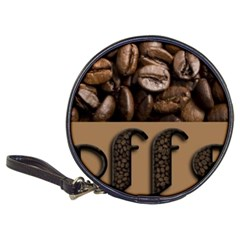 Funny Coffee Beans Brown Typography Classic 20-CD Wallets