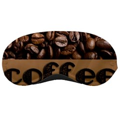 Funny Coffee Beans Brown Typography Sleeping Masks