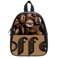 Funny Coffee Beans Brown Typography School Bags (Small)