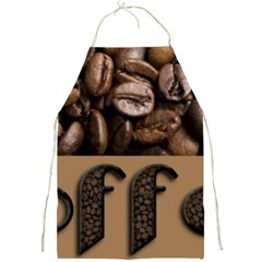 Funny Coffee Beans Brown Typography Full Print Aprons