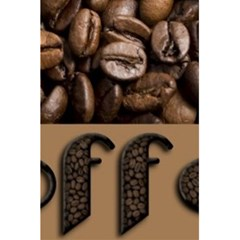Funny Coffee Beans Brown Typography 5.5  x 8.5  Notebooks