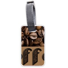 Funny Coffee Beans Brown Typography Luggage Tags (Two Sides)