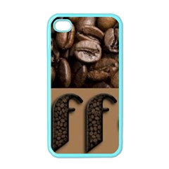 Funny Coffee Beans Brown Typography Apple iPhone 4 Case (Color)
