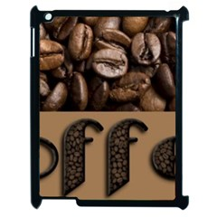 Funny Coffee Beans Brown Typography Apple iPad 2 Case (Black)