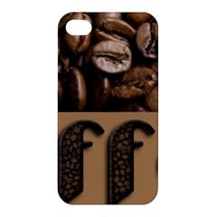 Funny Coffee Beans Brown Typography Apple iPhone 4/4S Hardshell Case