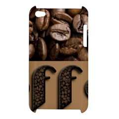 Funny Coffee Beans Brown Typography Apple iPod Touch 4