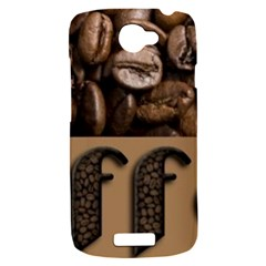 Funny Coffee Beans Brown Typography HTC One S Hardshell Case