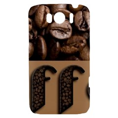 Funny Coffee Beans Brown Typography HTC Sensation XL Hardshell Case