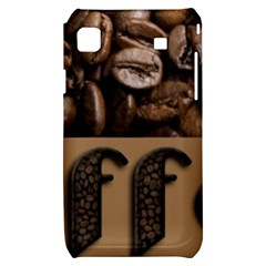 Funny Coffee Beans Brown Typography Samsung Galaxy S i9000 Hardshell Case