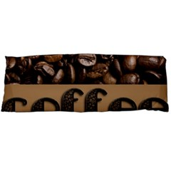 Funny Coffee Beans Brown Typography Body Pillow Case Dakimakura (Two Sides)