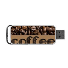 Funny Coffee Beans Brown Typography Portable USB Flash (One Side)