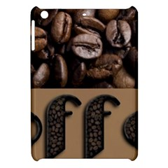 Funny Coffee Beans Brown Typography Apple iPad Mini Hardshell Case