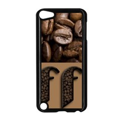 Funny Coffee Beans Brown Typography Apple iPod Touch 5 Case (Black)