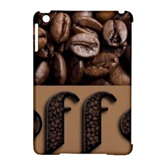 Funny Coffee Beans Brown Typography Apple iPad Mini Hardshell Case (Compatible with Smart Cover)