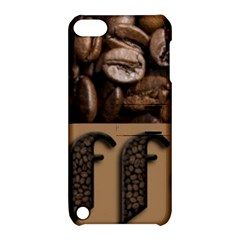 Funny Coffee Beans Brown Typography Apple iPod Touch 5 Hardshell Case with Stand