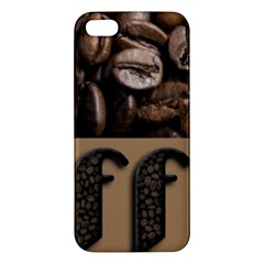 Funny Coffee Beans Brown Typography Apple iPhone 5 Premium Hardshell Case