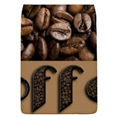 Funny Coffee Beans Brown Typography Flap Covers (L)