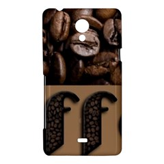 Funny Coffee Beans Brown Typography Sony Xperia T