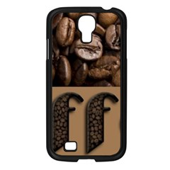 Funny Coffee Beans Brown Typography Samsung Galaxy S4 I9500/ I9505 Case (Black)