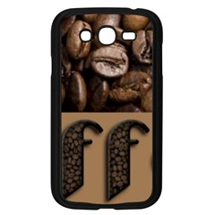 Funny Coffee Beans Brown Typography Samsung Galaxy Grand DUOS I9082 Case (Black)