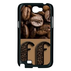 Funny Coffee Beans Brown Typography Samsung Galaxy Note 2 Case (Black)