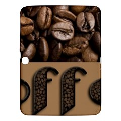 Funny Coffee Beans Brown Typography Samsung Galaxy Tab 3 (10.1 ) P5200 Hardshell Case