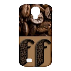 Funny Coffee Beans Brown Typography Samsung Galaxy S4 Classic Hardshell Case (PC+Silicone)
