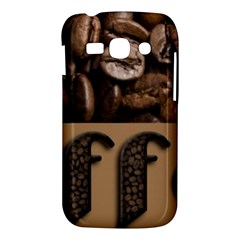 Funny Coffee Beans Brown Typography Samsung Galaxy Ace 3 S7272 Hardshell Case