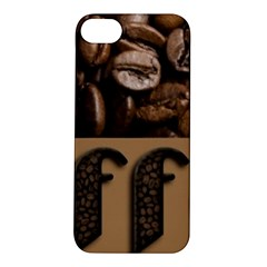 Funny Coffee Beans Brown Typography Apple iPhone 5S/ SE Hardshell Case