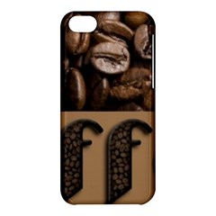 Funny Coffee Beans Brown Typography Apple iPhone 5C Hardshell Case