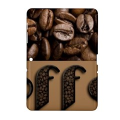 Funny Coffee Beans Brown Typography Samsung Galaxy Tab 2 (10.1 ) P5100 Hardshell Case