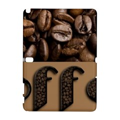 Funny Coffee Beans Brown Typography Samsung Galaxy Note 10.1 (P600) Hardshell Case