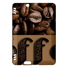 Funny Coffee Beans Brown Typography Kindle Fire HDX Hardshell Case