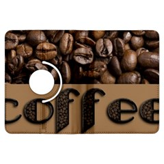Funny Coffee Beans Brown Typography Kindle Fire HDX Flip 360 Case