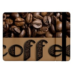 Funny Coffee Beans Brown Typography Samsung Galaxy Tab Pro 12.2  Flip Case