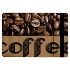 Funny Coffee Beans Brown Typography iPad Air Flip
