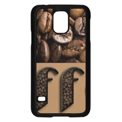 Funny Coffee Beans Brown Typography Samsung Galaxy S5 Case (Black)