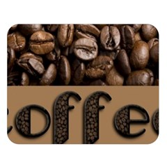 Funny Coffee Beans Brown Typography Double Sided Flano Blanket (Large)