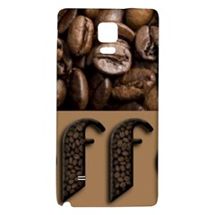 Funny Coffee Beans Brown Typography Galaxy Note 4 Back Case